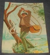 Il A Le Même Vocabulaire Qu'en Voiture ::::: Humour  Pêche - Pêcheur -  Illustrateurs  L. Carrière  --------- 540 - Carrière, Louis