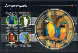 Bloc Sheet Oiseaux Perroquets Birds Parrots Neuf  MNH **   Togo 2015 - Parrots
