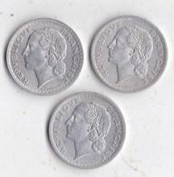 Lot  3  Monnaies  5 Francs 1945 1946 1947 - Munten & Bankbiljetten
