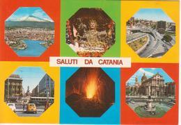 CATANIA - PANORAMA DALL'AEREO - BUSTO S. AGATA - CAVALCAVIA TONDO GIOIENI - PIAZZA STESICORA - PIAZZA DUOMO - Catania