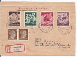 Dt.- Reich (001840) Einschreiben Mit MNR 869/ 872 Und 2x MNR 782 Von Strausberg Nach Prag - Germany