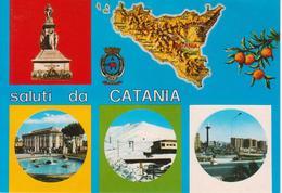 CATANIA - MONUMENTO A BELLINI - VILLA BELLINI E PALAZZO DELLE POSTE - ETNA: STAZIONE FUNIVIA - PIAZZA EUROPA - Catania