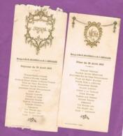 2 MENUS. MARIAGE JOUANNEAU-CHEVALLIER 28 AVRIL 1923. Imp. CHARTIER VENDÔME - Menú
