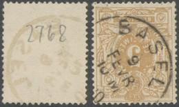 """émission 1869 - N°28 Obl Simple Cercle """"Basel"""" - 1869-1888 Liggende Leeuw"""