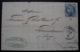 Comines 1871 (Nord)  Gc 1090 Wandewynckèle Père & Fils, Lettre Pour Gerardmer - 1849-1876: Période Classique