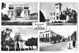 Cpsm: ALGERIE - Souvenir Des ISSERS - Salle Des Fêtes, Mairie, Eglise, Grande Rue (Multivues) Ed. Prost Les Issers - Autres Villes