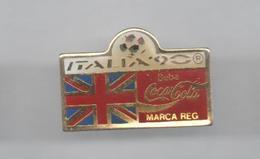 PINS PIN'S FOOT FOOTBALL WORLD CUP ITALIA 90  COCA COLA ENGLAND UK - Voetbal