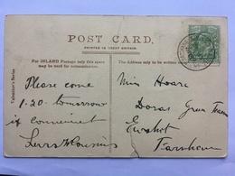 GB Edward VII Postcard With Rare Church Crookham Postmark Hampshire - Lettres & Documents