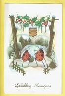 * Fantaisie - Fantasy - Fantasie * Bonne Année, New Year, Snow, Coccinelle, Ladybug, Kever, Lanterne, Old - Nouvel An