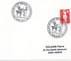 BUREAU POSTAL MILITAIRE 525 B PHILATELIE SAINT WENDEL 2e ANNIVERSAIRE 1990 - Commemorative Postmarks