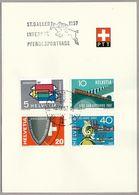Schweiz Suisse 1957: Zu 328-331 Mi 637-640 Yv 586-589 Mit O ST.GALLER PFERDESPORTTAGE 3.IX.57 AUTOMOBIL-POSTBUREAU - Hippisme