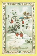 * Fantaisie - Fantasy - Fantasie * (54341) Bonne Année, New Year, Snow, Coccinelle, Ladybug, Balançoire, Parapluie - New Year
