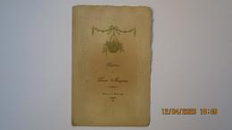 MENU De BAPTÊME / 1927 / BLOIS - Menus