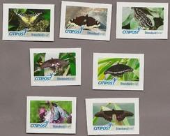 BRD - Privatpost - Citipost - Schmetterling Butterfly -  7 Werte  Schmetterlinge - Papillons