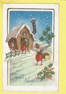 * Fantaisie - Fantasy - Fantasie * (53566) Bonne Année, New Year, Coccinelle, Ladybug, Char, Maison, Noel, Christmas - New Year