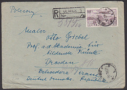 Polen GLIWICE Gleiwitz R-Brief An Prof. Otto Griebel Akademie Für Bildente Künste Dresden - Covers & Documents