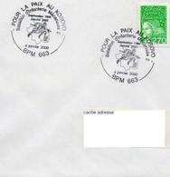 BUREAU POSTAL MILITAIRE 663 BATAILLON INFANTERIE MECANISEE 2 KOSOVO POUR LA PAIX MITROVICA (Kosovo) 2000 - Commemorative Postmarks