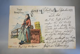 A002 Tracht Aus Der Rheinprovinz Seelig Malz-Kaffee 1899 - Publicité