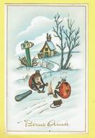 * Fantaisie - Fantasy - Fantasie * (4042) Bonne Année, New Year, Coccinelle, Ladybug, Feu De Camp, Kampvuur, Rare, Old - New Year