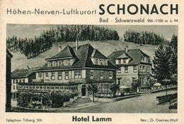 """SCHONACH -- """"Bad . Shwarzwald"""" - édit: G. Greiner-Wolf. - Dépliants Touristiques"""