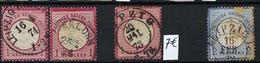 ALLEMAGNE Empire:  Les  Y&T 5 (1 X) Et 16 (3 X) Obl. ,  B à TB - Oblitérés
