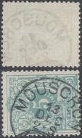 """émission 1884 - N°45 Obl Simple Cercle """"Mouscron"""" - 1869-1888 León Acostado"""