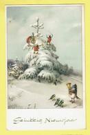 * Fantaisie - Fantasy - Fantasie * (Colorprint Special 4690) Bonne Année, New Year, Coccinelle, Ladybug, Musique, Music - New Year