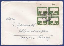 Brief Mehrfachfrankatur MiNr. 268, Bogenrand (br9797) - [7] Federal Republic