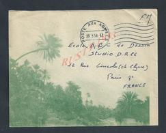 MILITARIA ALGÉRIE LETTRE ILLUSTRÉE EN FRANCHISE MILITAIRE POSTE AUX ARMÉES 1958 : - Marcophilie (Lettres)