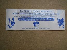 Autocollants.autocollant  (stickers.sticker) La Chaîne Bleue, Protection Des Animaux Et De La Nature - Stickers