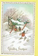 * Fantaisie - Fantasy - Fantasie * (colorprint 54022) Bonne Année, New Year, Coccinelle, Ladybug, Jeu De Cartes - Nouvel An