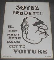 Pompidou : Partis Politique : Carte Autocollante - Auto- Collant Dorchy :: Caricature - Illustrateurs --------- 540 - Satiriques