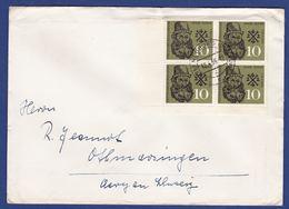 Brief Mehrfachfrankatur MiNr. 308, Eckrand (br9800) - [7] Federal Republic