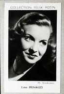 LINE RENAUD  Chanteuse, Meneuse De Revue Et Actrice Née à Nieppe - 4ème Collection Photo Felix POTIN 1952 - Félix Potin