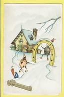 * Fantaisie - Fantasy - Fantasie * (colorprint Elite 4043) Bonne Année, Coccinelle, Ladybug, Fer à Cheval, Balançoire - New Year