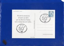##(DAN204)-1995-Romentino,50°anniversario Liberazione,annullo Speciale Su Cartolina Commemorativa-tematica Resistenza - 6. 1946-.. Repubblica