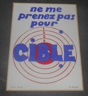 Ne Me Prenez Pas Pour Cible  : Carte Autocollante - Auto- Collant Dorchy ::  Illustrateurs --------- 540 - Ansichtskarten