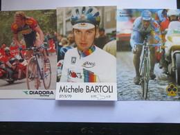 Cyclisme Lot De 3 Photos De Coureurs Italiens - Cyclisme