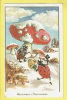 * Fantaisie - Fantasy - Fantasie * Bonne Année, Coccinelle, Ladybug, Champignon, Mushroom, Paddenstoel, TOP - New Year