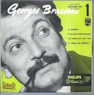 """45 Tours EP - GEORGES BRASSENS  PHILIPS 432065 - """" LE PARAPLUIE """" + 3 ( Haute Fidélité Label VERT FONCE - SETE - CETTE ) - Other - French Music"""