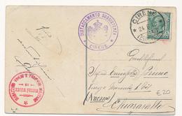 1916 CIRENAICA CIRENE + MAGAZZINO VIVERI E PANIFICIO MILITARE DI ZAVIA FEIDA - Cirenaica