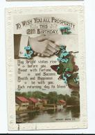 Postcard Birthday 21st Rotary  To Wish You All Prosperity  Used Posted1922 Cache Postmark Cable Sg360 - Compleanni
