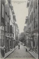 VILLEFRANCHE DE ROUERGUE  : Rue De La République Animée  (Haut ) Rare - Villefranche De Rouergue