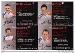 Lot De 37 Cartes Souples - équipe Cofidis 2006 - Photo Recto Verso - Portrait Et Fiche De Chaque Coureur - Sports