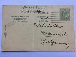 GB Edward VII Postcard With Cardiff Bickerdike 6 Line Postmark Sent To Watermael Belgium - Brieven En Documenten