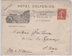 LSC - ENV. ILLUSTREE - PARIS  27 JANV. 12 - Storia Postale