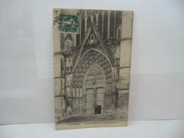 3.AUXERRE 89 YONNE PORTAIL DE LA CATHÉDRALE CPA 1909 - Auxerre