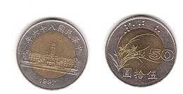 Taiwan - 50 Yuan 1997 AUNC / XF+ Lemberg-Zp - Taiwan
