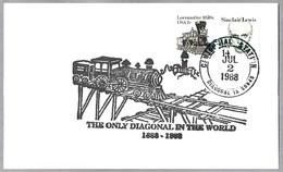 DIAGONAL - The Only Diagonal In The World - Ferrocarril - Railroad. Diagonal IA 1988 - Trenes