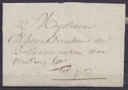 L. Datée 3 Mars 1796 De THOUROUT (Torhout) Pour GEND (Gand) - 1794-1814 (Franse Tijd)